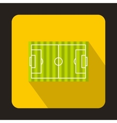 Football field icon flat style vector