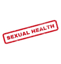 Sexual health rubber stamp vector