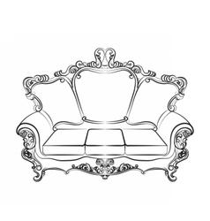 Baroque Imperial luxury furniture vector image
