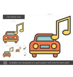 Car music line icon vector