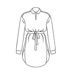Women s shirt with a belt for housework a dirty vector