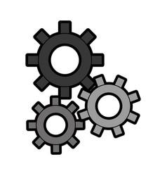 Three gear sign cartoon vector