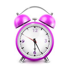 Purple alarm clock vector