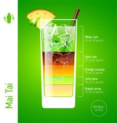 Mai Tai cocktail vector image