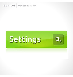 Settings button template vector