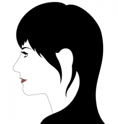 girls profile vector image
