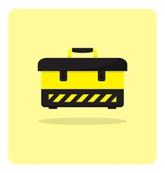 Flat icon tool box vector