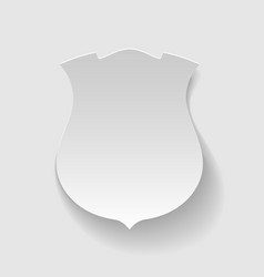 Labels in the form of shield vector