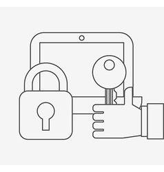 Business security design vector