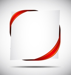 Red corner ribbon vector
