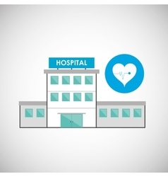 Hospital design healthy center emergency concept vector