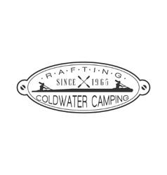 Coldwater Camping Emblem Design vector image