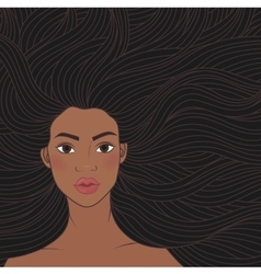 African beauty girl vector