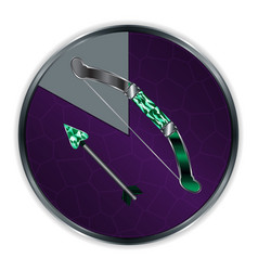 Arrow and bow in progress frame vector