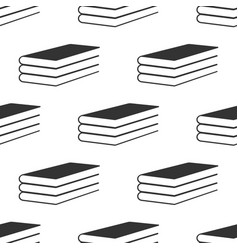 Books icon seamless pattern on white background vector