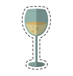 Cartoon glass cup beverage drink vector