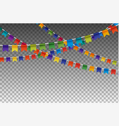 Colorful isolated garland with party flags vector