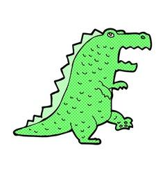 comic cartoon dinosaur vector image