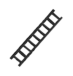 Construction ladder equipment vector