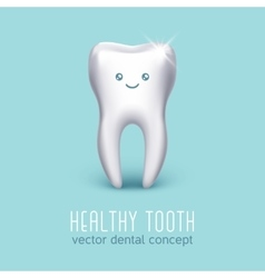 Dental medical poster with 3d human tooth vector