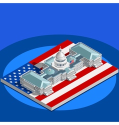 Election Infographic Congress Isometric Building vector image