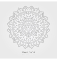 Ethnic mystical pattern with triangle and circles vector