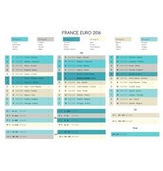 Euro cup football 2016 schedule vector