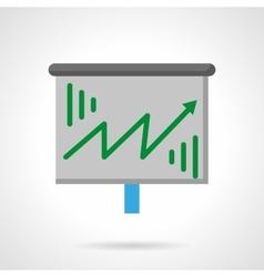 Green growth arrow flat color icon vector image vector image