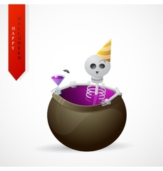 Haloween greeting card cartoon design vector