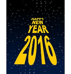Happy new year amid the black sky Dark space and vector image vector image