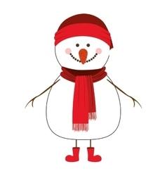 happy snowman cartoon icon image vector image