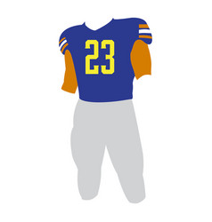 Isolated football uniform vector