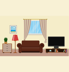 living room with furniture interior design vector image vector image
