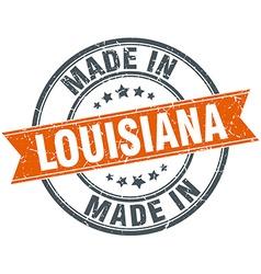 Louisiana orange grunge ribbon stamp on white vector