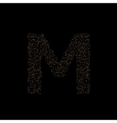Magic M letter vector image vector image