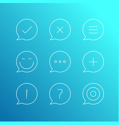 outline icons set thin line icons collection vector image