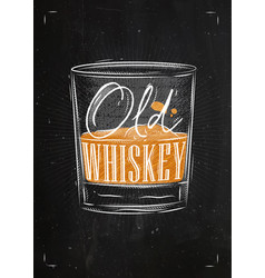 Poster old whiskey color vector