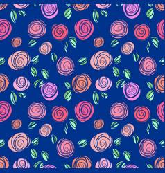 Rose seamless dark background vector