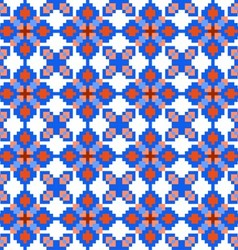 Seamless pattern with geometric flowers vector