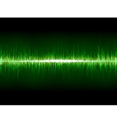 Sharp cool green waveform eps 8 vector