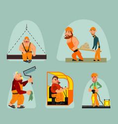 six workers set vector image vector image