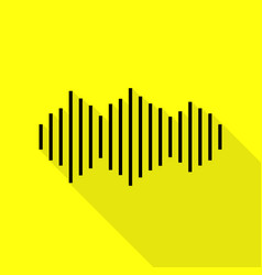 Sound waves icon black icon with flat style vector