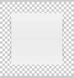 Square white paper sheet with transparent shadow vector