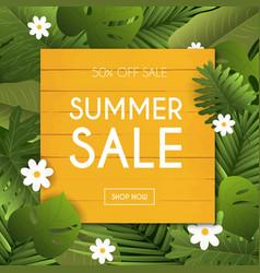 Summer sale banner poster flyer blurred vector