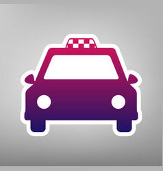 Taxi sign purple gradient vector
