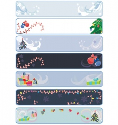 xmas winter banners vector image