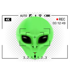 Camera viewfinder alien vector