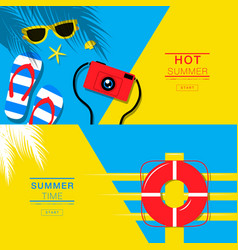 Summer tropical vacation backgrounds design vector