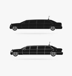 limousine car icon vector image