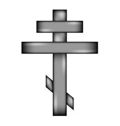 religious orthodox cross icon sign vector image